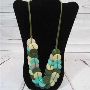 Jewelry - Green Nature handmade wood necklace
